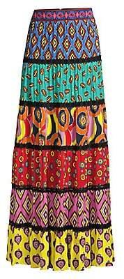Alice + Olivia Women's Carla Kranendonk X Lesa Paneled Maxi Skirt