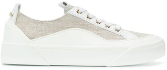 Jimmy Choo lace-up panelled sneakers