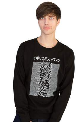 Pulsar Strand Clothing Japanese Sweatshirt Joy Division used on Unknown Pleasures - Post Punk Long Sleeve Shirt - L