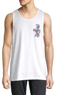 Riot Society Floral Bear Cotton Tank Top