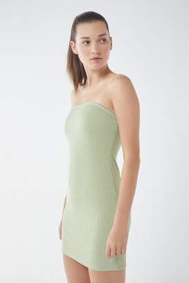 Urban Outfitters Heather Ribbed Knit Tube Dress