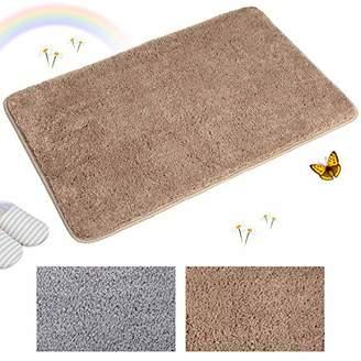 Indoor Doormat Super Absorbs Mud Absorbent Rubber Backing Non Slip Door Mat for Front Door Inside Floor Dirt Trapper Mats Cotton Entrance Rug