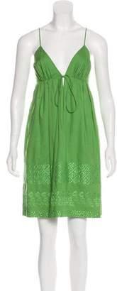 Nicole Miller Embroidered Mini Dress