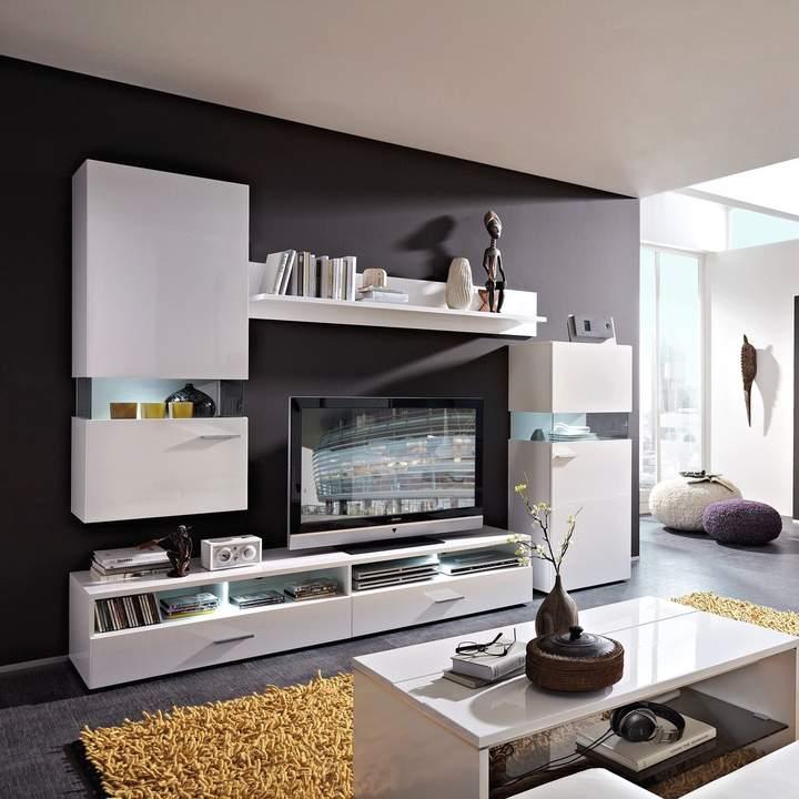 loftscape EEK A+, Wohnwand WhiteStar I (4-teilig)