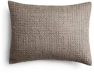 """Vera Wang Marble Shibori Fold And Stitches Decorative Pillow, 15"""" x 22"""""""