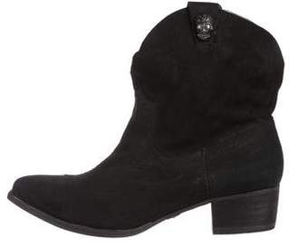 Zadig & Voltaire Suede Skull Ankle Boots