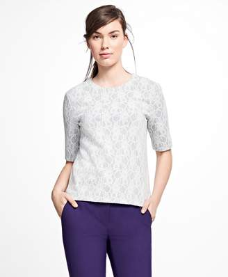Brooks Brothers Bonded Lace Top