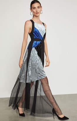 BCBGMAXAZRIA High-Low Deep-V Gown