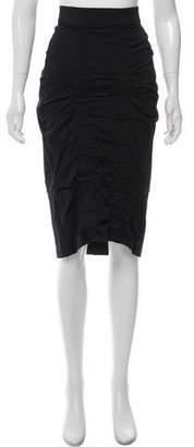 Zero Maria Cornejo Gathered Knee-Length Skirt