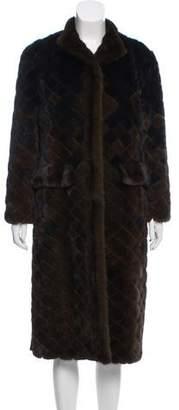 Oscar de la Renta Long Mink Fur Coat