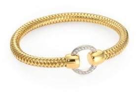 Roberto Coin Primavera Diamond and 18K Yellow Gold Woven Bracelet