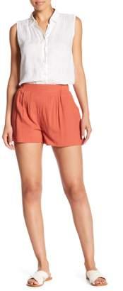Honeybelle Honey Belle Pleated Detail High Waist Shorts