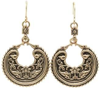 Barse Tetxured Bronze Drop Earrings