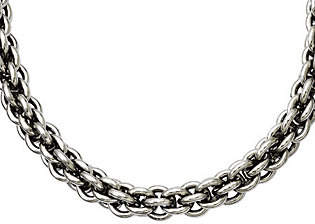 "Steel by Design Stainless Steel 22"" Round Link Chain Necklace"
