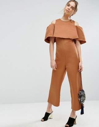 Asos Bonded Off Shoulder Jumpsuit