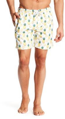 Franks Swim Pineapple Print Mid Length Swim Trunk $99 thestylecure.com