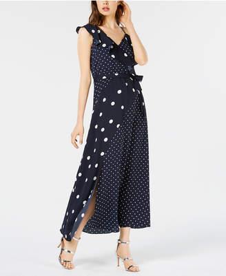 Bar III Mixed Dot-Print Maxi Dress, Created for Macy's