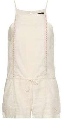 Vix Paula Hermanny Linen-blend Gauze Playsuit