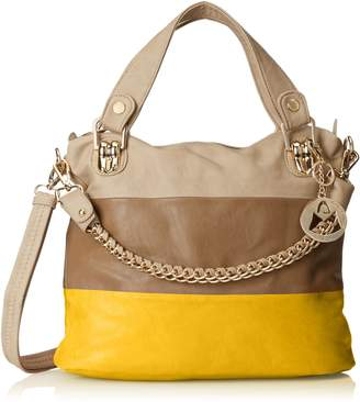 MG Collection Ece Tri-Tone Hobo Handbag