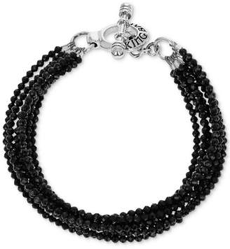 King Baby Studio Women's Black Spinel Multi-Strand Toggle Bracelet