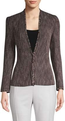 Rebecca Taylor Frayed Tweed Jacket