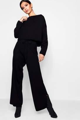 boohoo Knitted Split Leg Boutique Loungeset