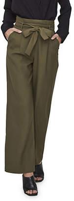Vero Moda Kim Belted High Waist Wide Leg Pants