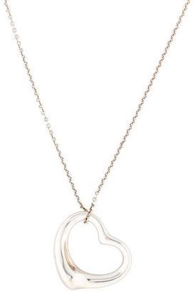 Tiffany & Co. Open Heart Pendant Necklace $195 thestylecure.com