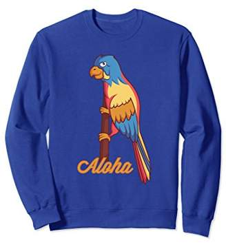 Aloha Hawaiian Tropical Parrot Luau Party Sweatshirt