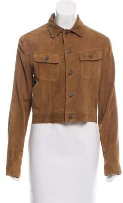 Ralph Lauren Sport Suede Pointed Collar Jacket