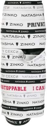 Natasha Zinko branded ribbons pencil skirt