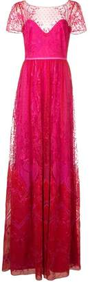 Marchesa long lace dress