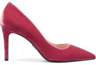 Prada - Velvet Pumps - Pink $670 thestylecure.com