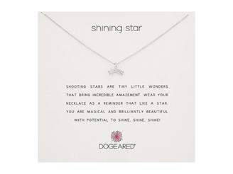 Dogeared Shining Star Shooting Star Necklace
