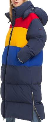 Tommy Jeans Oversized Color-Block Puffer Coat