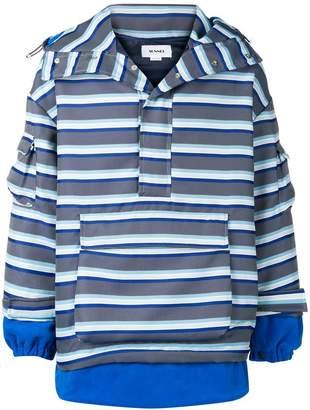 Sunnei striped hooded jacket