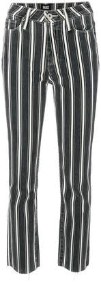 Paige striped cropped trousers