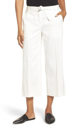 Women's Nordstrom Collection Wide Leg Crop Pants $199 thestylecure.com