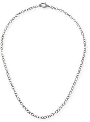 "Margo Morrison Diamond Lock Chain Necklace, 30"""