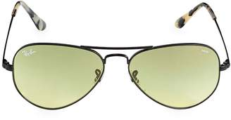 Ray-Ban Icons 55mm Aviator Metal II Sunglasses