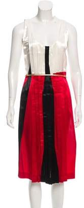 Miu Miu Colorblock Satin Dress w/ Tags