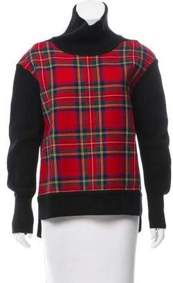 Burberry Tartan Paneled Wool Sweater