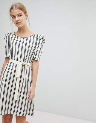 Max & Co. Max&Co Striped Shift Dress with Tie Waist