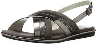 Anne Klein Women's Galea Synthetic Flat Sandal