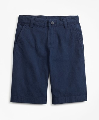 Brooks Brothers Boys Seersucker Bermuda Shorts