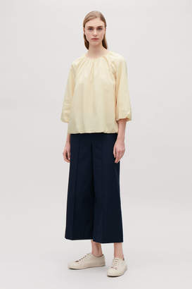 Cos BLOUSE WITH ELASTICATED NECK