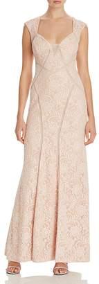 Aqua Illusion Inset Lace Gown - 100% Exclusive