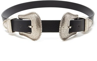 FOREVER 21 Etched Double-Buckle Belt $14.90 thestylecure.com