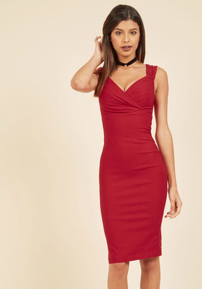 Rock Steady/Steady Clothing In Lady Love Song Sheath Dress in Ruby $89.99 thestylecure.com