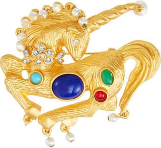 Kenneth Jay Lane Multicolor Unicorn Pin